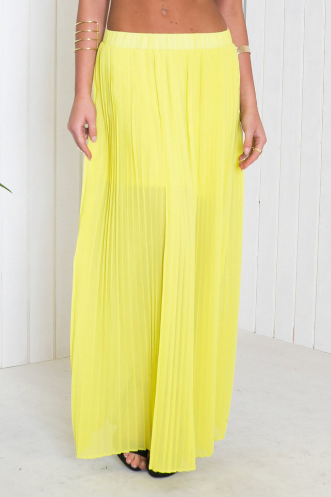 Nala Chiffon Pleated Maxi Skirt