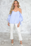 Sure Thing Puff Sleeve Picnic Top - Haute & Rebellious