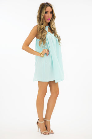 TRIANGLE FRONT DRESS - Mint - Haute & Rebellious