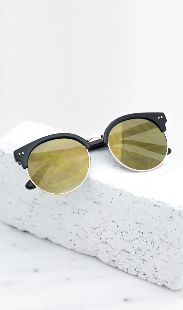 Road Ahead Reflective Sunglasses - Black/Army