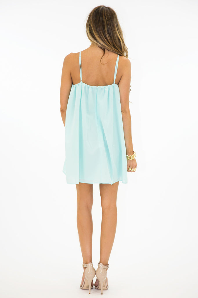 TRIANGLE FRONT DRESS - Mint