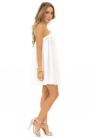 TRIANGLE FRONT DRESS - White - Haute & Rebellious