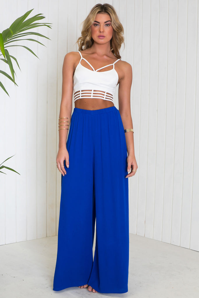 Tyson Cutout Cropped Top - White