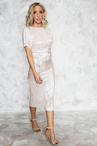 Maya Side-Slit Lace Dress - Ivory