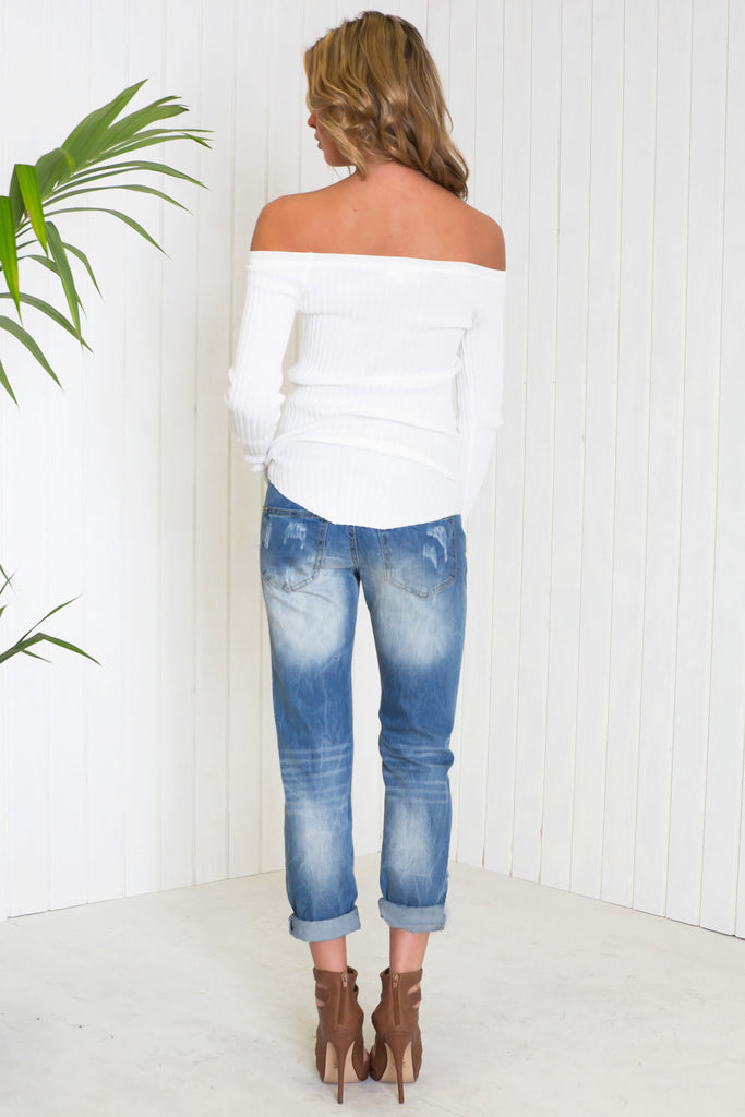 Oliver Ripped Denim Boyfriend Jeans