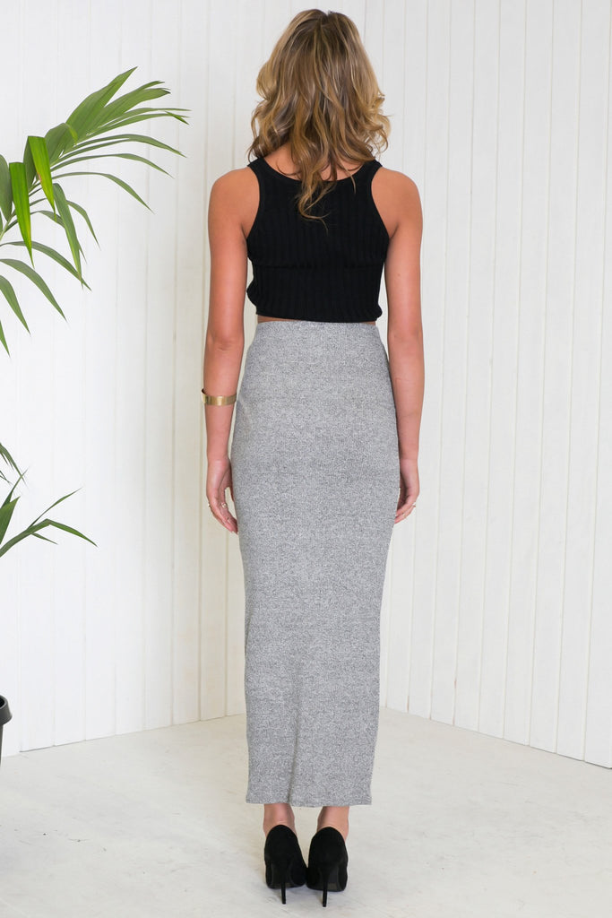 Lada Ribbed Stretch Maxi Skirt - Haute & Rebellious