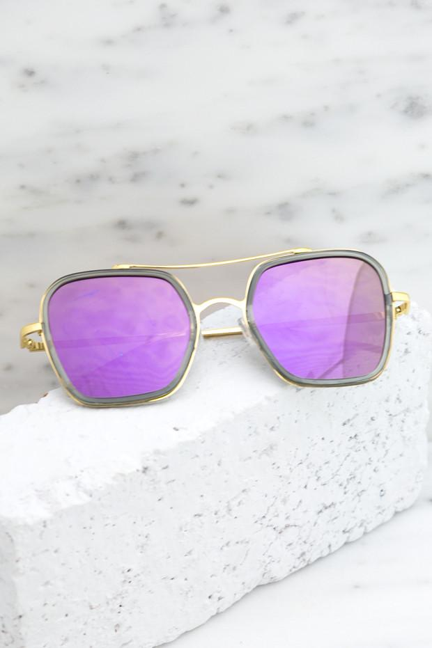 Harpers 70's Sunglasses - Purple