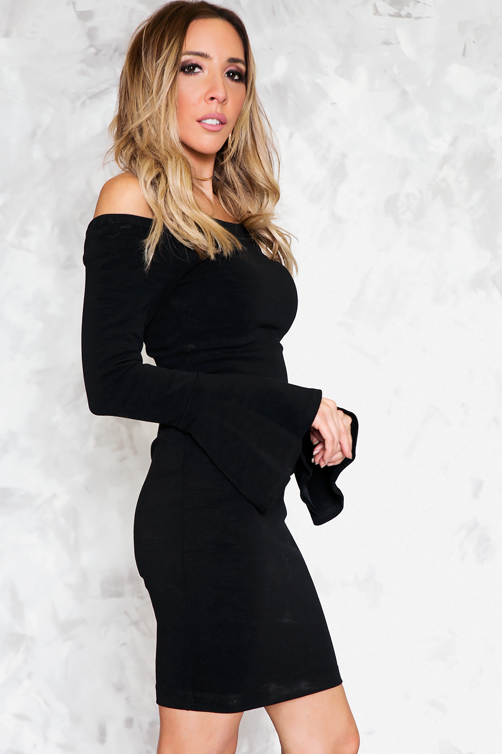 Ruffle Sleeve Off-Shoulder LBD /// Only 1-M Left ///