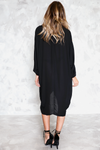 Wrap Tunic Dress - Black