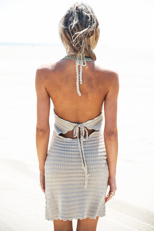 Lauren Crochet Halter Dress - Haute & Rebellious