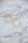 Flat Gold Plated Earrings