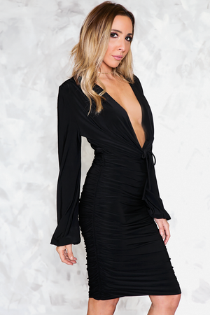 Deep-V Bodycon Dress