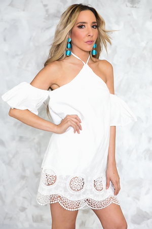By Your Side Halter Off Shoulder Dress - Haute & Rebellious