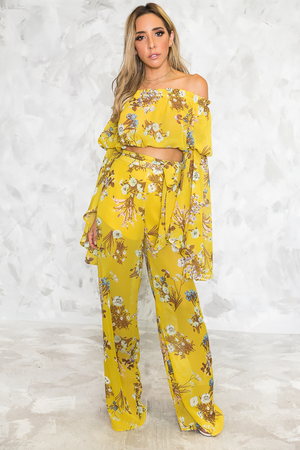 Tropic Vibes Floral Print Set /// Only 1-L Left /// - Haute & Rebellious