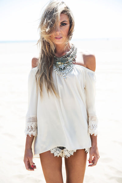 Isla Crochet Embroidered Top /// Only 1-L Left /// - Haute & Rebellious