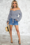 Picnic Puff-Sleeve Wrap Top - Haute & Rebellious