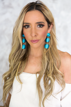 Can't Hide Statement Earrings - Teal - Haute & Rebellious