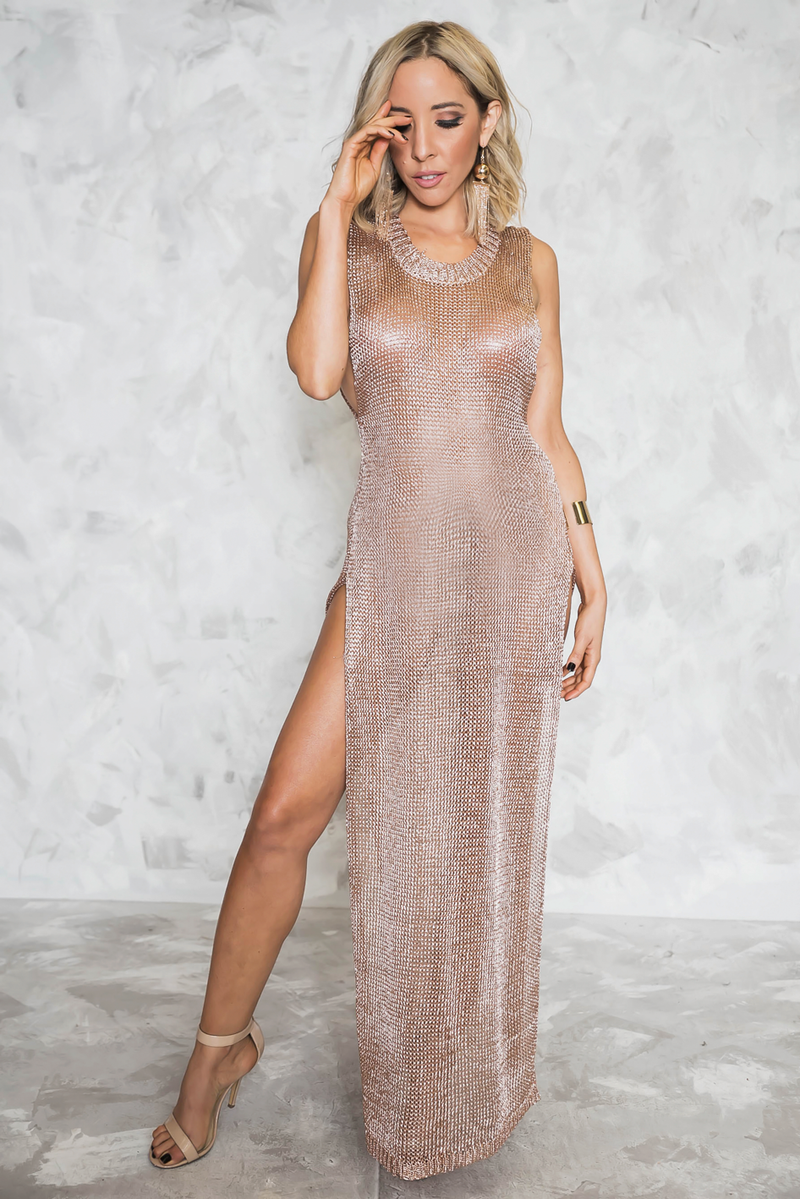 Undeniable Chain-Mail Mesh Tank Dress - Haute & Rebellious