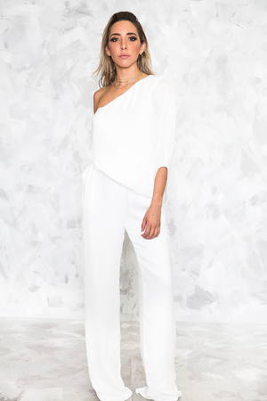 Feeling Sophisticated One-Shoulder Jumpsuit - Haute & Rebellious