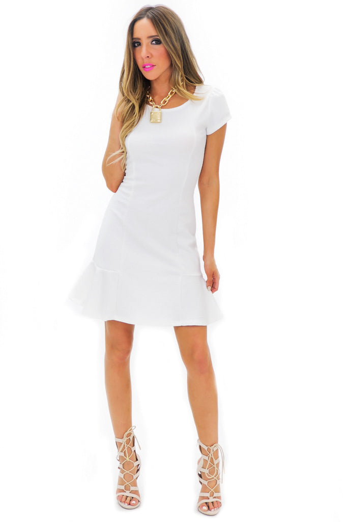 Becka Shift Dress - White