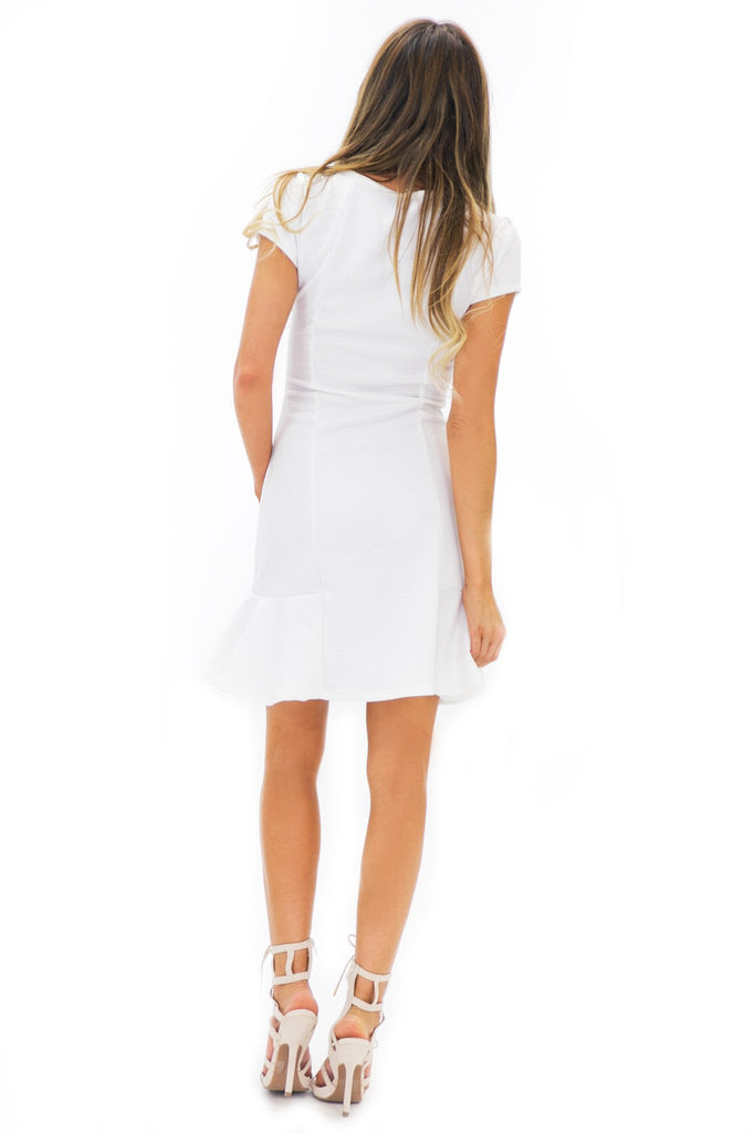 Becka Shift Dress - White - Haute & Rebellious