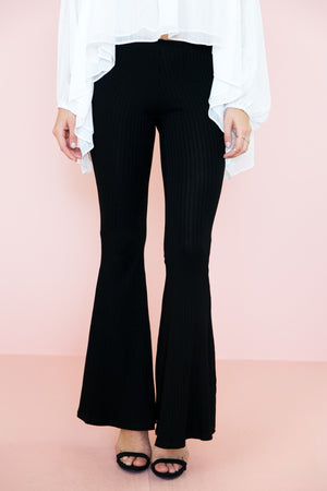 Emilia Ribbed Bell Bottom Pants - Haute & Rebellious