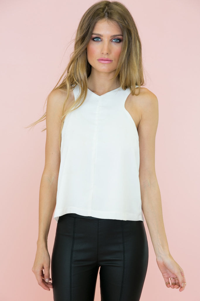 Joss Open Back Sleeveless Top