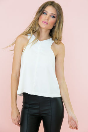 Joss Open Back Sleeveless Top - Haute & Rebellious
