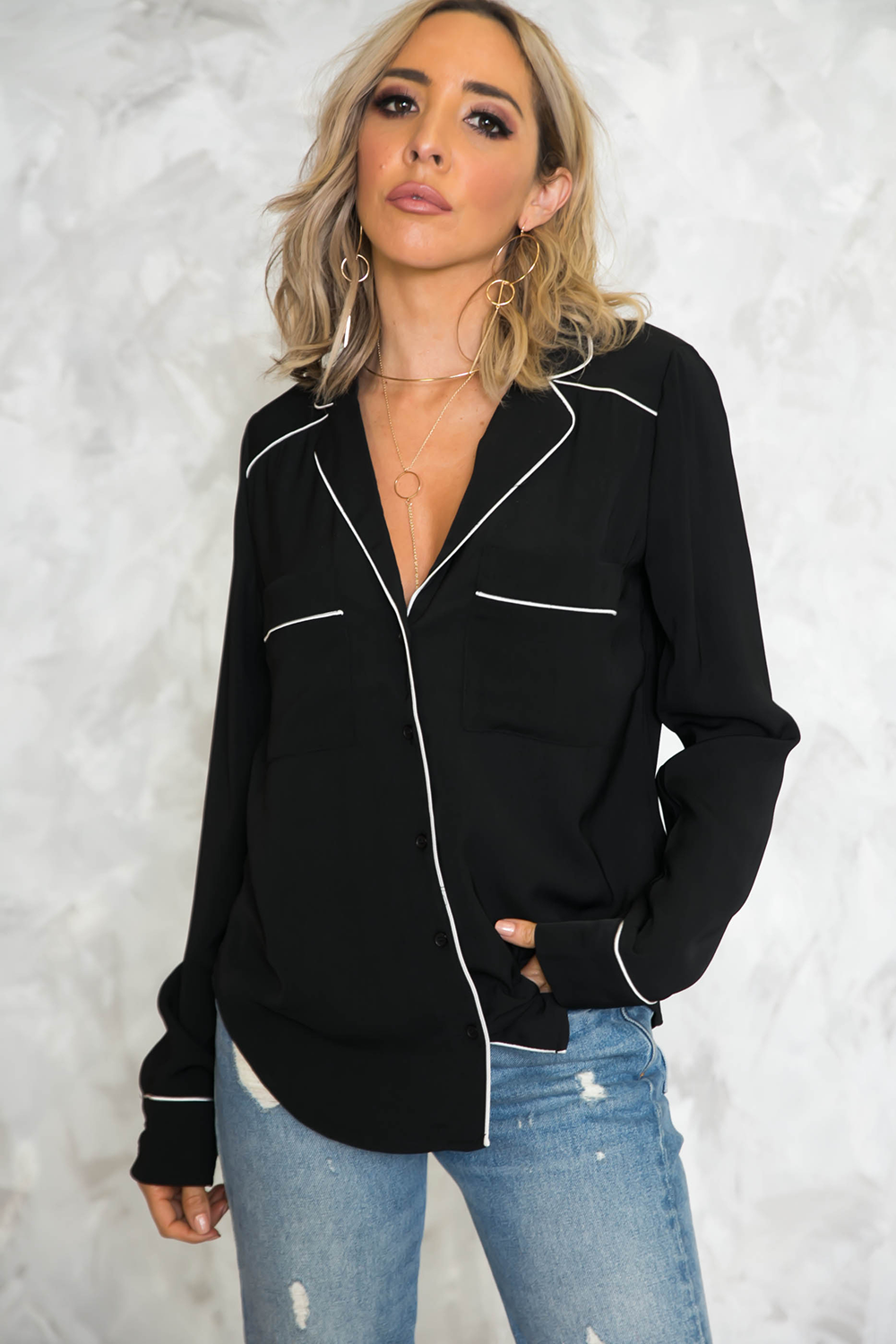 Pijama Long Sleeve Top - Haute & Rebellious