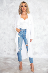 Mine Only Lightweight Coat - White /// ONLY 1-L LEFT/// - Haute & Rebellious