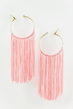 Fringe Fiesta Earrings - Pink - Haute & Rebellious