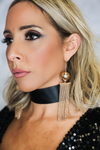 Ball & Fringe Gold Earrings - Haute & Rebellious