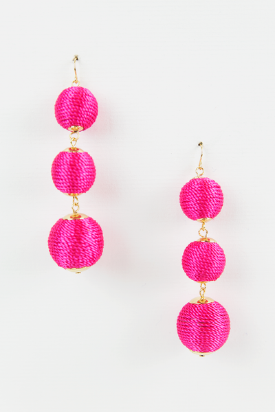 Hung Up Earrings - Fuchsia