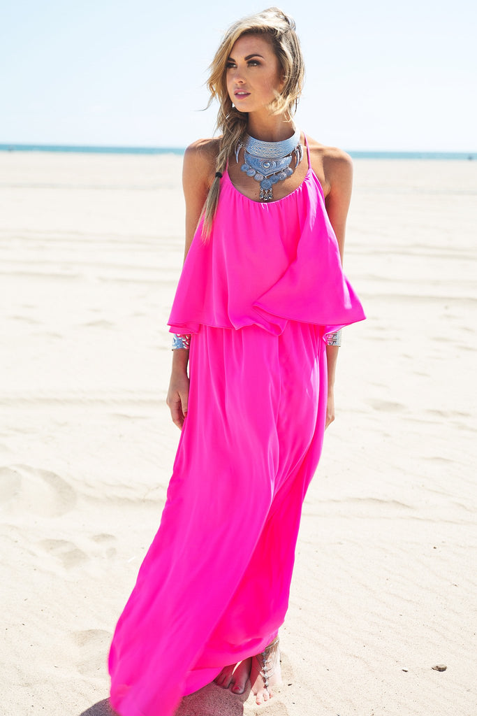 Daisy Flowy Chiffon Maxi Dress