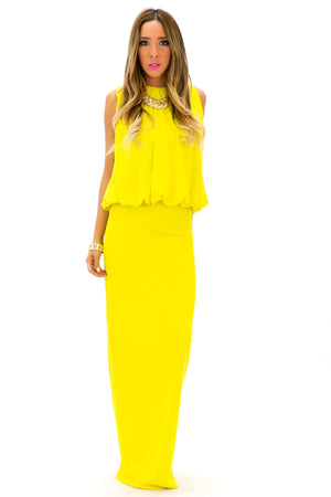 NAIMON MAXI DRESS - Lemon - Haute & Rebellious