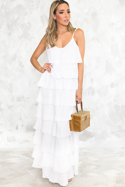 Your Beach Tiered Ruffle Maxi /// Only 1-L Left ///