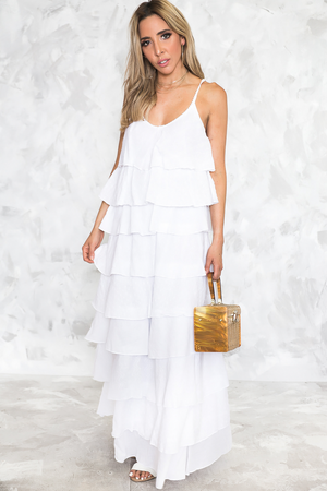 Your Beach Tiered Ruffle Maxi - Haute & Rebellious
