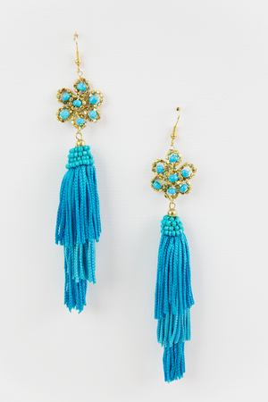 Ready To Go Earrings - Teal - Haute & Rebellious