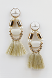 Dakota Statement Earring - White