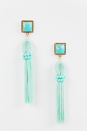 Stay a While Tassel Earring - Mint - Haute & Rebellious