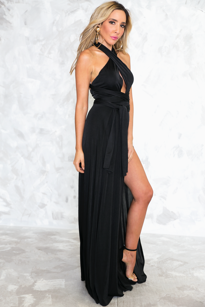 Let It Go Multi Wear Maxi Dress - Black