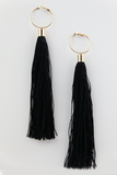 Tassel Statement Earring - Black - Haute & Rebellious