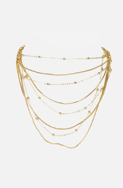 Multi Layered Short Chain Necklace