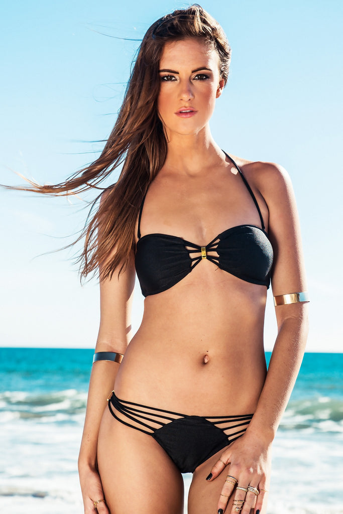 Eliza Gold Bar Swimsuit Top