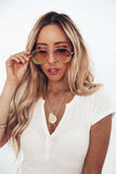 Anything Blush Aviator Sunglasses