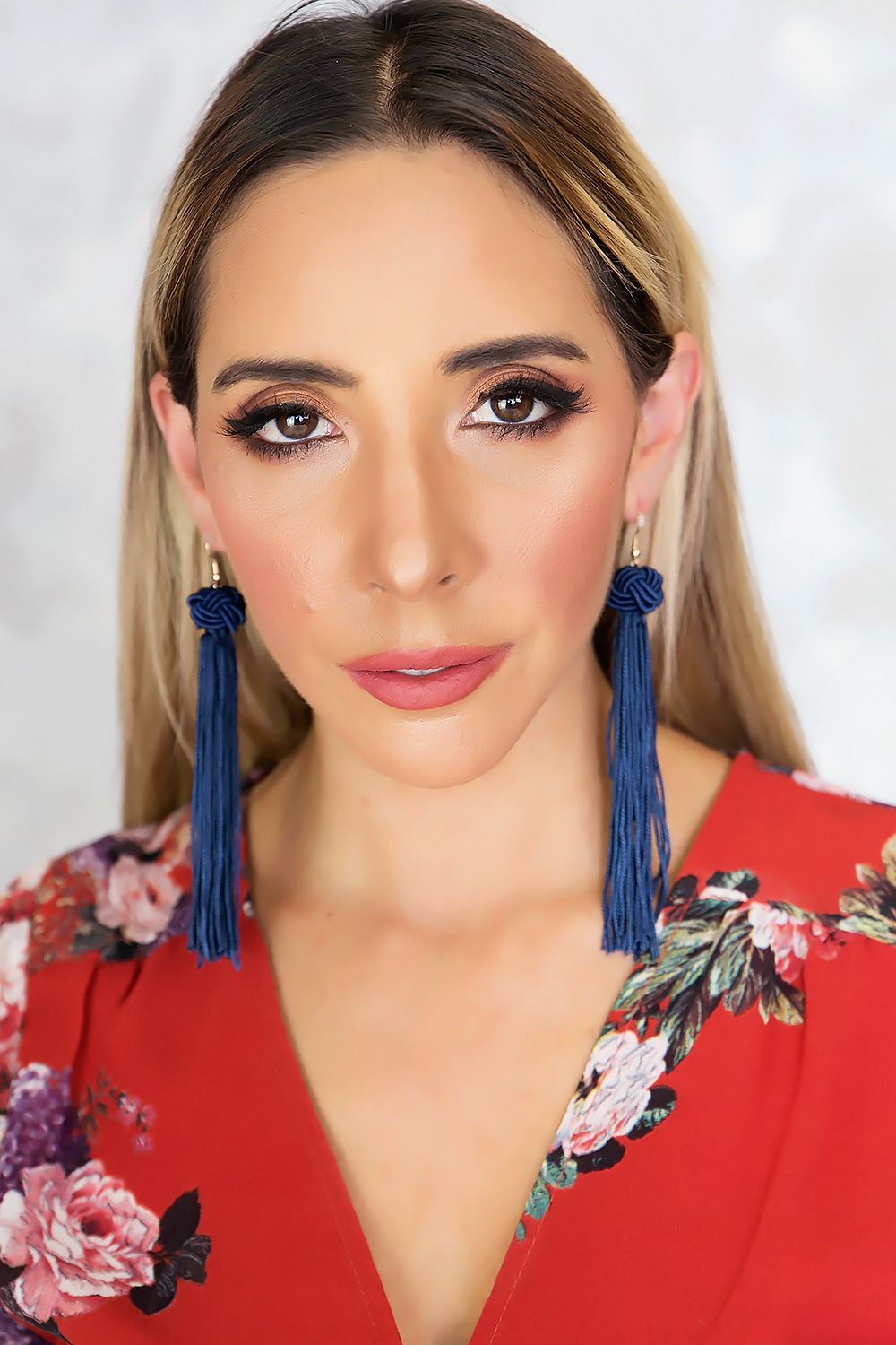 YOU COULD BE TASSEL EARRINGS - NAVY - Haute & Rebellious