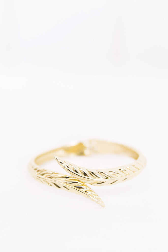 Gold Leaf Metal Cuff