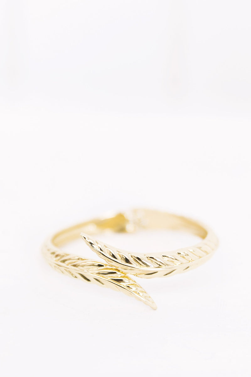 Gold Leaf Metal Cuff - Haute & Rebellious