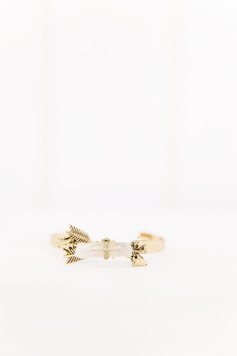 Arrow Crystal Cuff - Gold - Haute & Rebellious