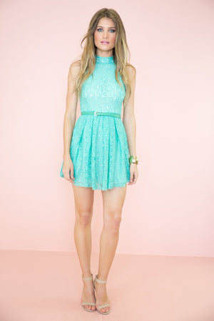 Jenna Open Back Lace Dress - Haute & Rebellious
